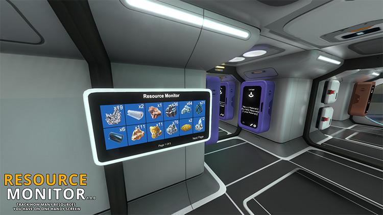 Resource Monitor Subnautica mod