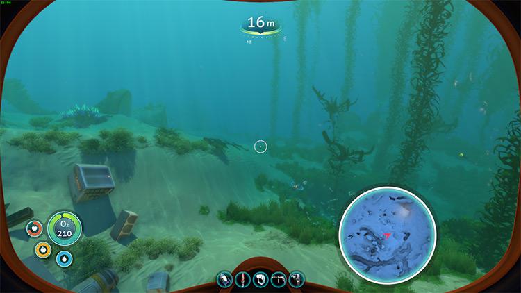 Mini Map Subnautica mod screenshot
