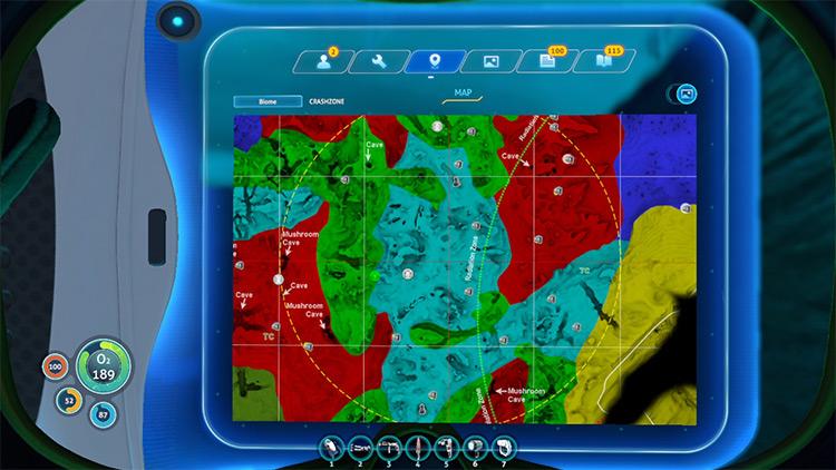 New Biome Map Subnautica mod