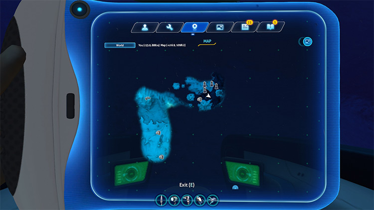 Map mod for Subnautica