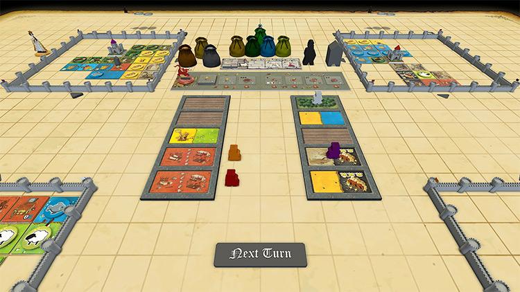 Kingdomino + Queendomino Tabletop Simulator mod