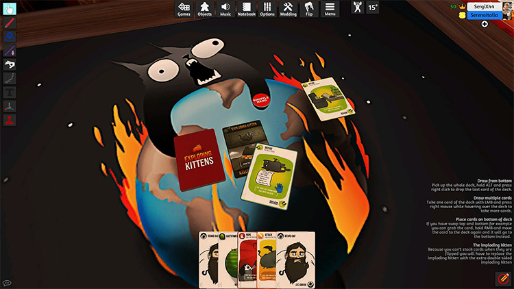 Exploding Kittens + Expansions in TTS