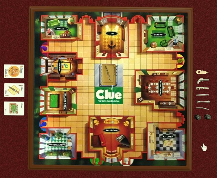 Clue Tabletop Simulator mod