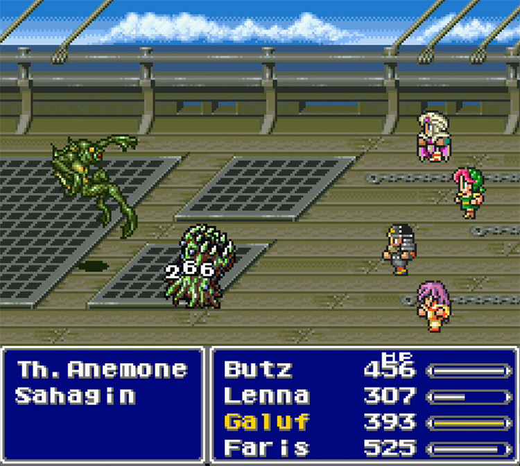 Final Fantasy V SNES gameplay