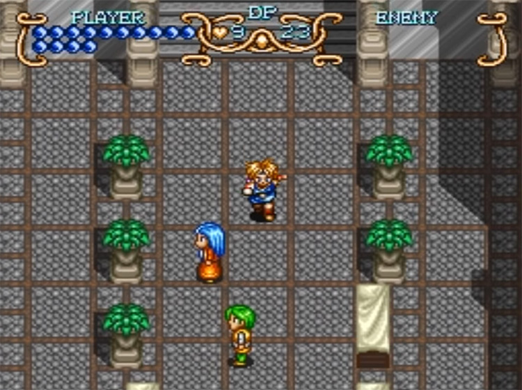 Illusion of Gaia SNES game screenshot