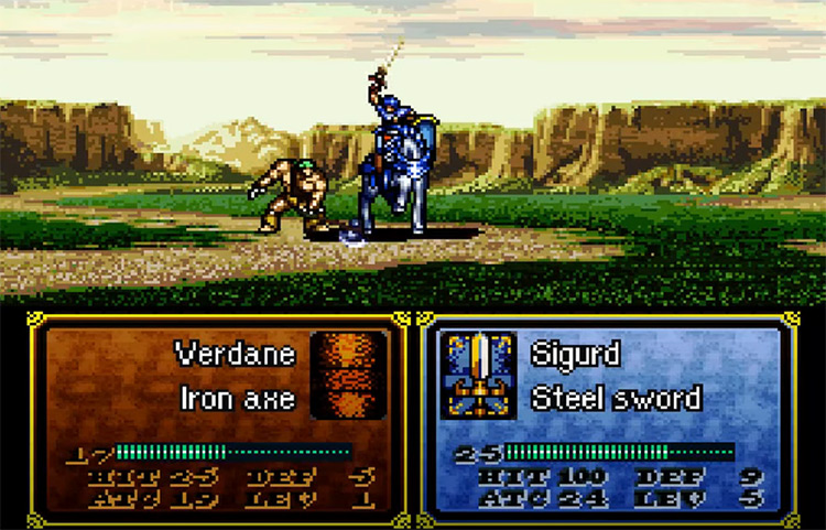 Fire Emblem: Genealogy of the Holy War SFC gameplay