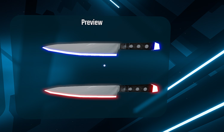 Kitchen Knife Beat Saber mod