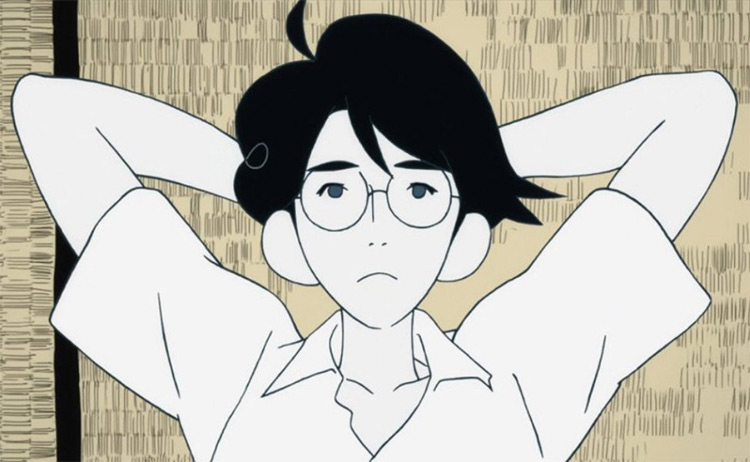 Watashi from The Tatami Galaxy anime