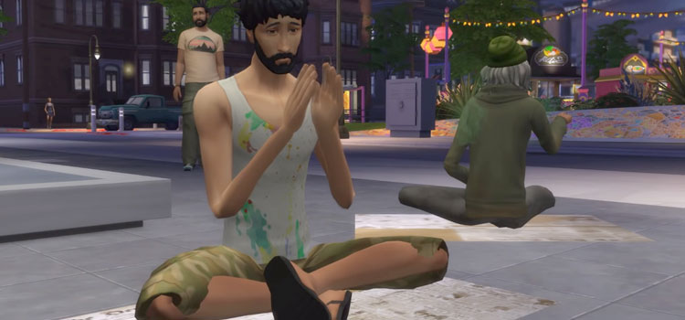 The Sims 4 - Begging For Money Mod Preview