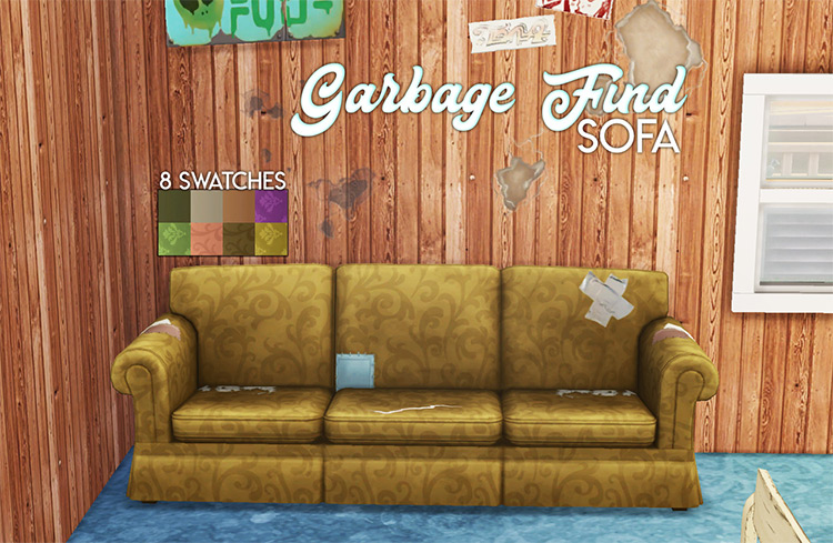 Garbage Fund Sofa for Sims 4