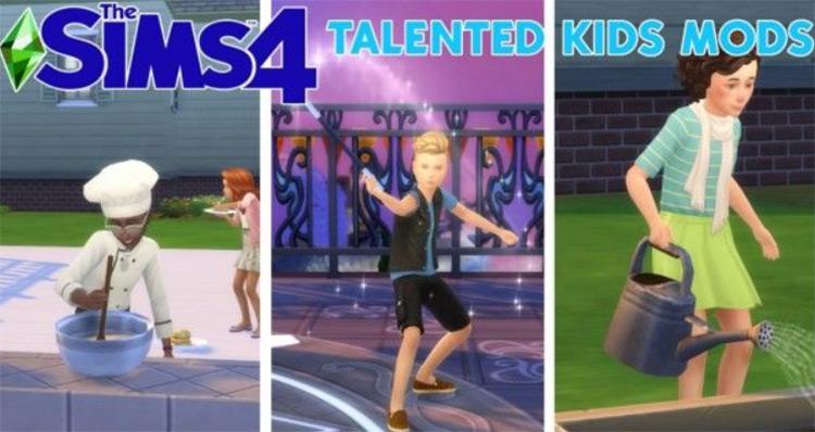 Talented Kids Mod Sims 4 CC