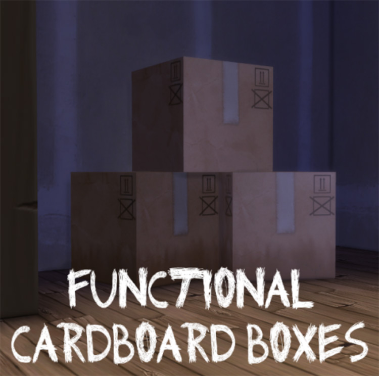 Functional Cardboard Boxes TS4 CC