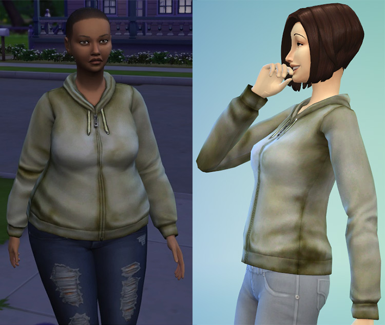 Dirty Hoodie for Sims 4
