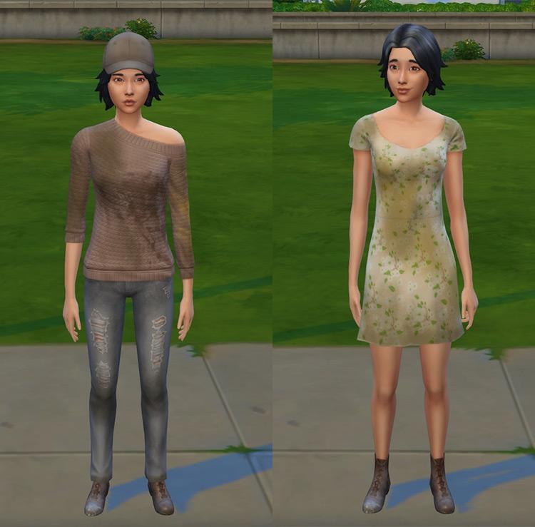 Female Homeless Clothes Sims 4 CC