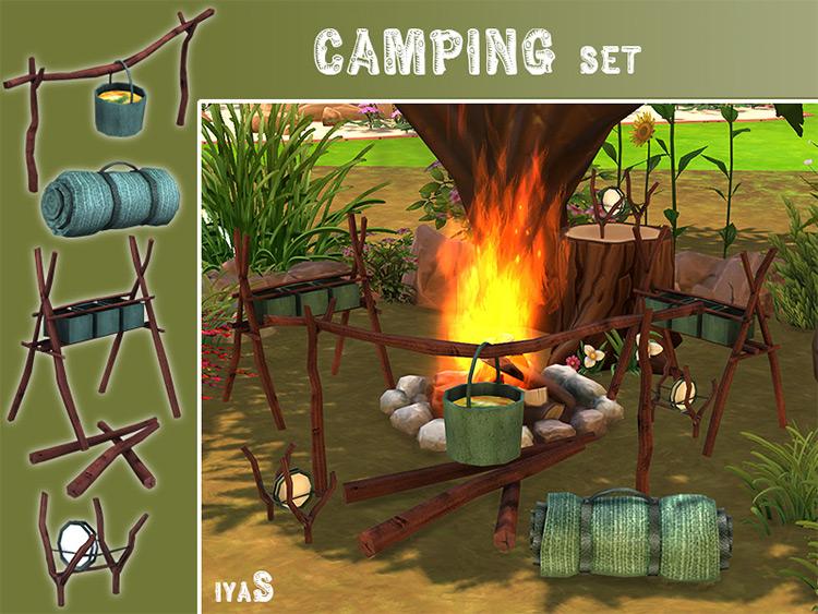 Camping Set Sims 4 CC screenshot