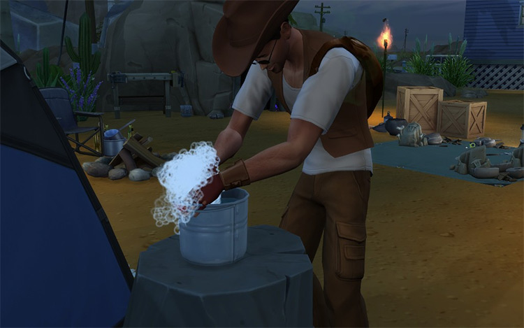 Portable (and Functional) Bucket Sims 4 CC
