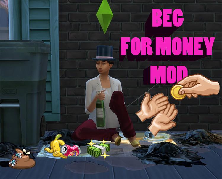 Beg for Money Mod Sims 4 CC
