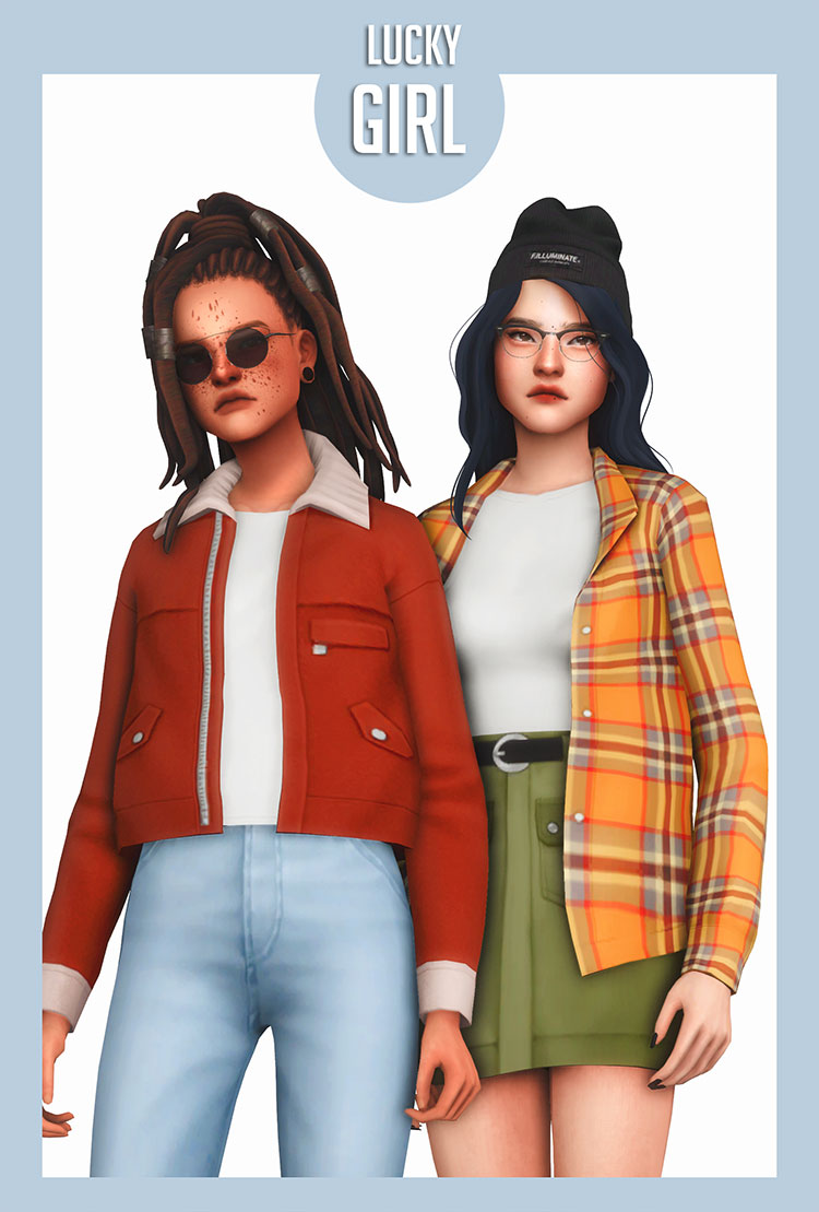 Lucky Girl CC Set for Sims 4
