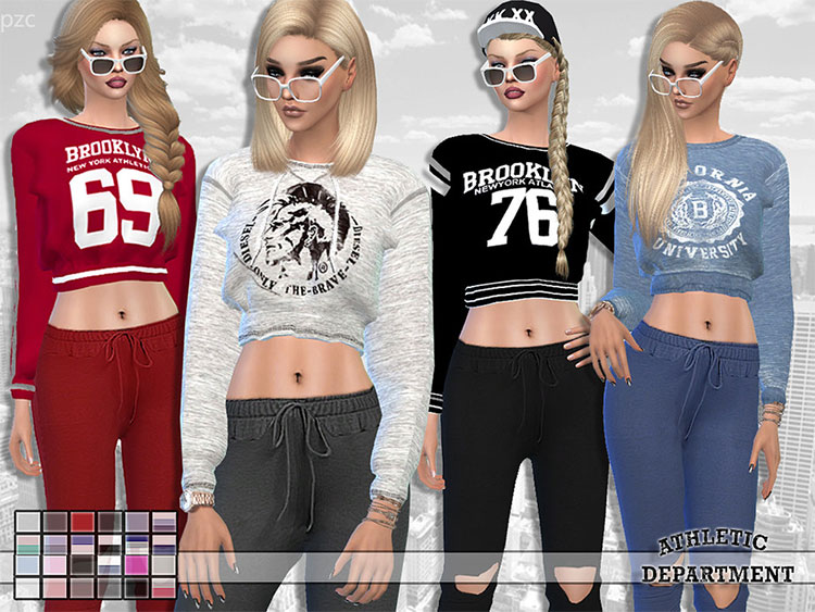 Althletic Dept. Sweatshirt CC Set - TS4
