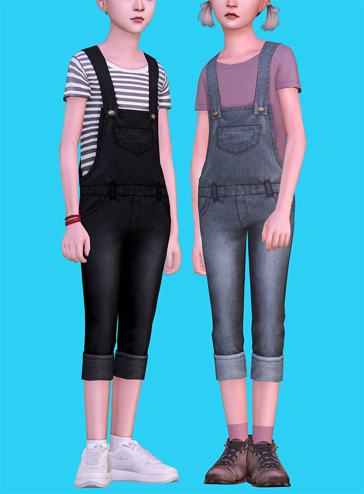Childrens Overalls CC for The Sims 4