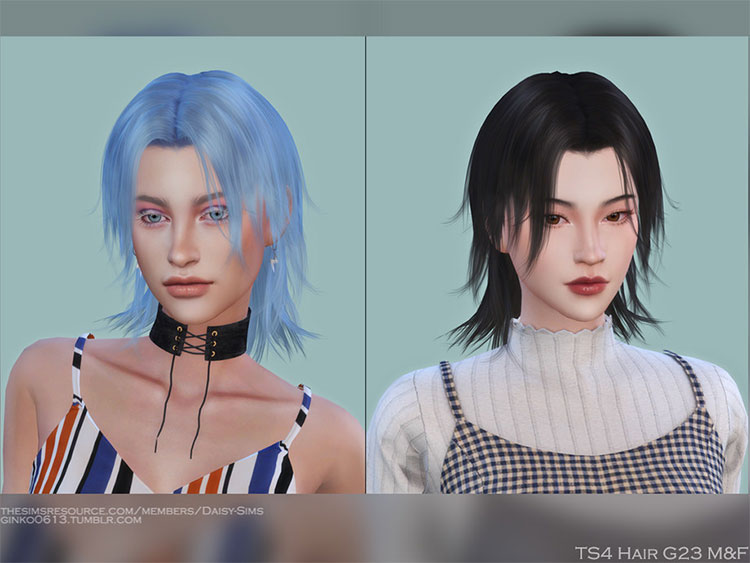 Short choppy hair CC for TS4