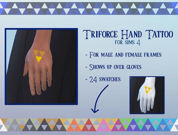 Triforce Hand Tattoo CC