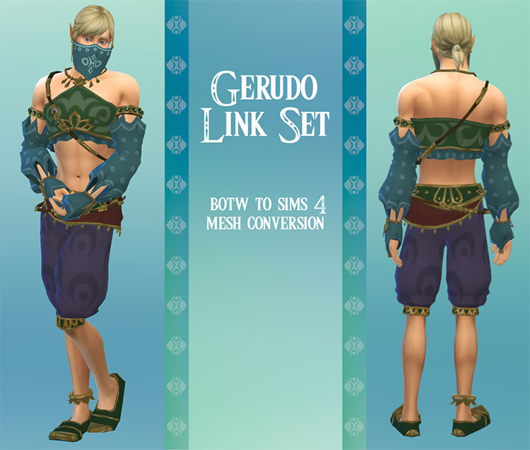Gerudo Link Character CC for The Sims 4