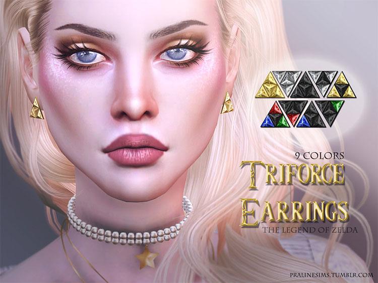 Triforce earrings Sims 4 CC