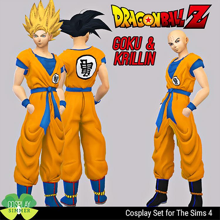 Goku and Krillin CC - Sims 4