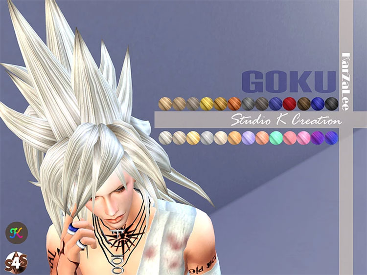 Goku Hair Custom Content for The Sims 4