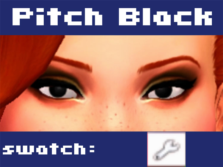 Pitch Black Eyes CC for The Sims 4