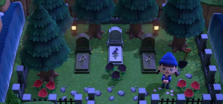 Hidden Cemetery Idea from ACNH
