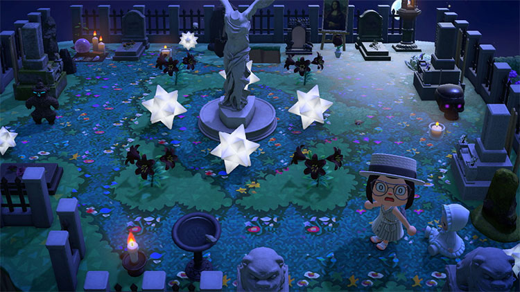 Glowing Cemetery in ACNH