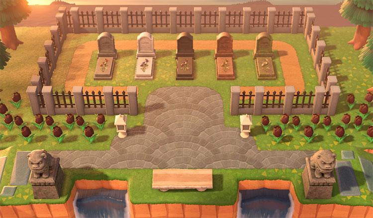 Tiny Cemetery ACNH Idea