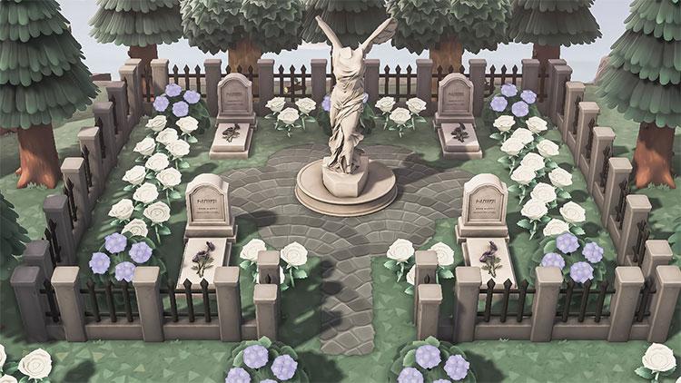 Elegant Graveyard Design Idea - ACNH