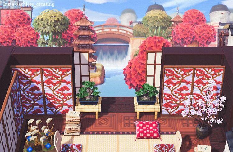 Japanese Themed Meditation Area - ACNH