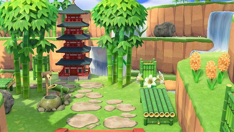 Japanese Garden Area in New Horizons