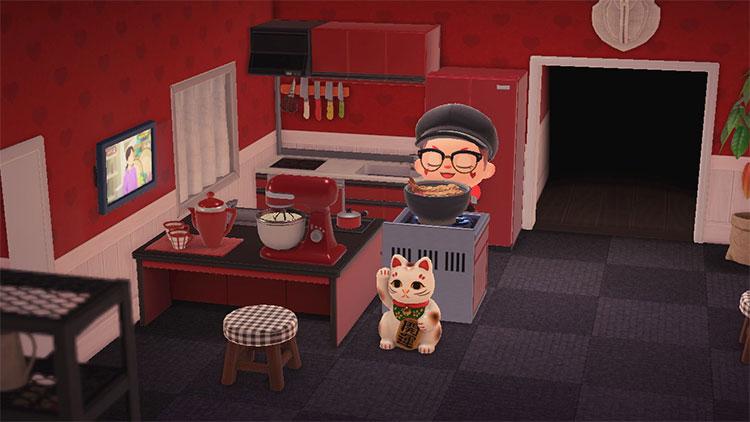 Living Room + Kitchen Idea - ACNH