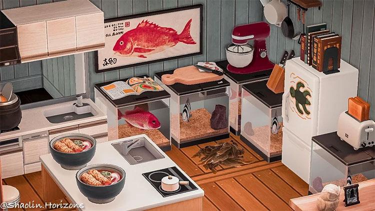 Pascal Sushi Bar Seaside Kitchen Idea - ACNH