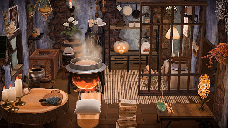 Witch style kitchen interior idea - ACNH