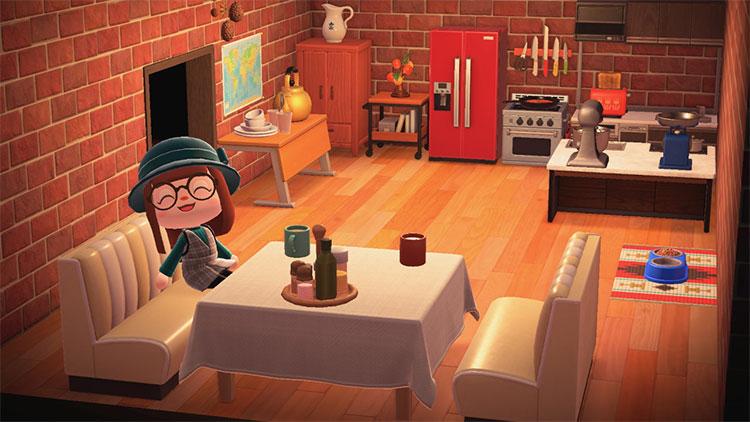 Chic-style red burgandy kitchen idea - ACNH