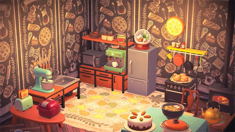 At-Home Kitchen Bakery Idea - ACNH