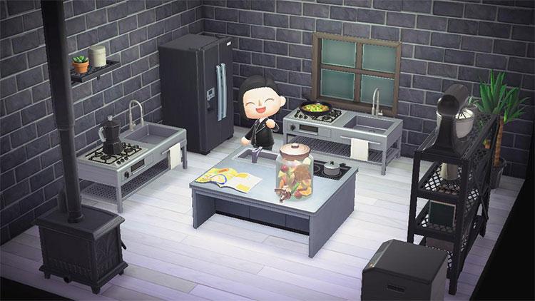 Dark modern kitchen design - ACNH Idea