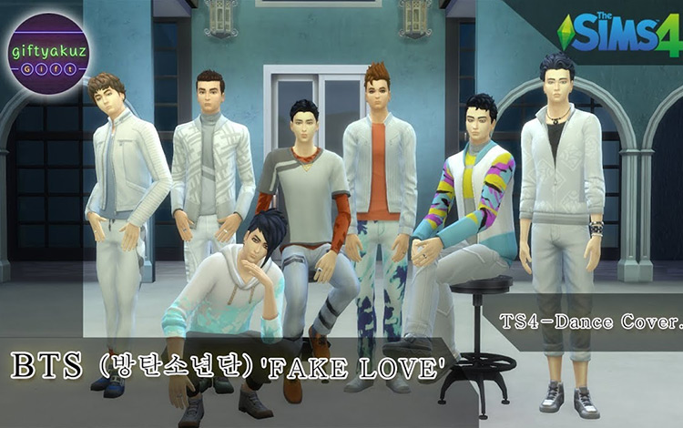 Fake Love Cover for Sims 4