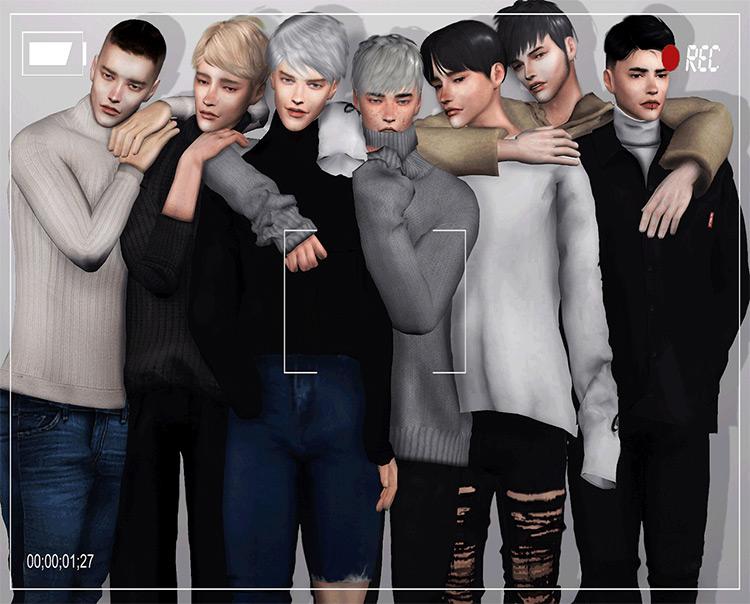 Random Group Pose TS4 CC