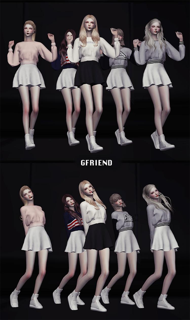 K-pop Girl Group Dance Poses Sims 4 CC