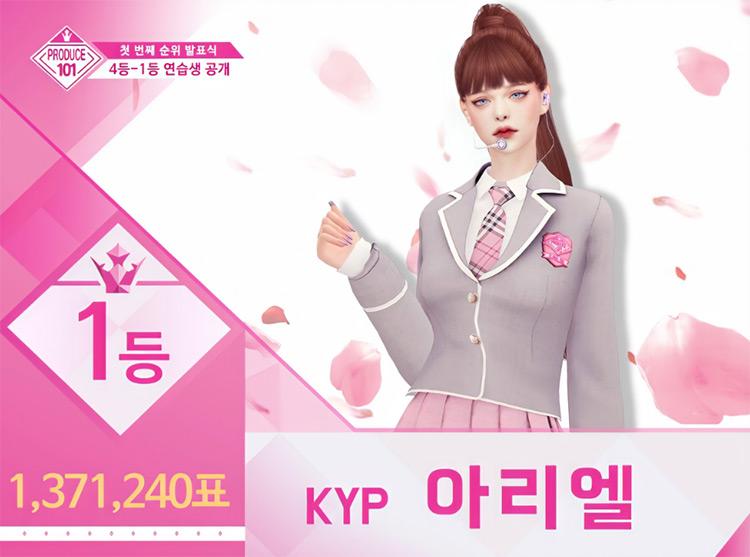 Produce 101 Uniform Sims 4 CC