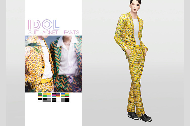 Idol Suit Jacket + Pants TS4 CC