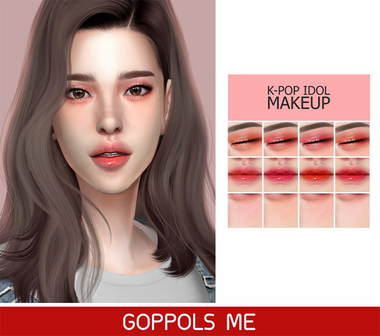 K-pop Idol Makeup for Sims 4