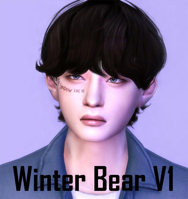 Winter Bear Hair TS4 CC